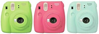Fujifilm Instax Mini 9 Instant Camera-Ice Blue Lime Green FlamingPink MSRP $69