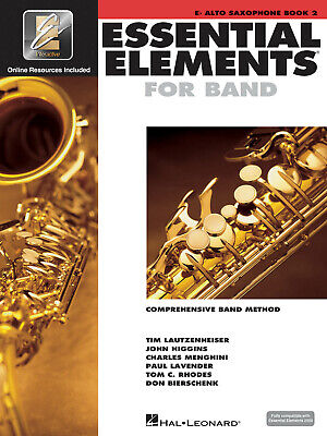 Essential Elements for Band Eb Alto Saxophone Book 2 Music Lessons Online Media