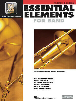 Essential Elements for Band Trombone Book 2 Learn Music Lessons & Online Media
