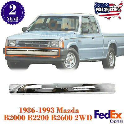 For 86-93 Mazda B2000 B2200 B2600 Front Bumper Center Bar Black W//O Molding Hole