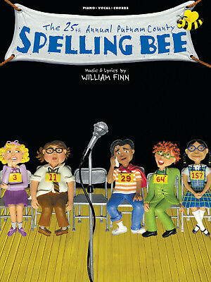 25th Annual Putnam County Spelling Bee Musical Vocal Piano Sheet Music Book