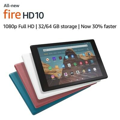 "NEW Amazon Fire HD 10 Tablet 10.1"" Display 32 GB (9th Generation) - ALL COLORS!"
