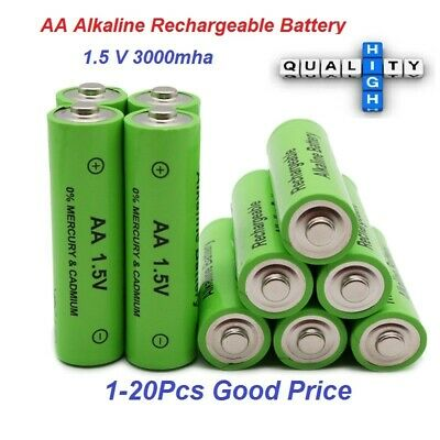 New Alkaline AA Rechargeable Battery 3000mah 1.5V for Light Remote Control lot
