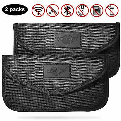 MONOJOY 2 Pack Large Faraday Bag, Signal Blocking Pouch for Car Keys Phones,