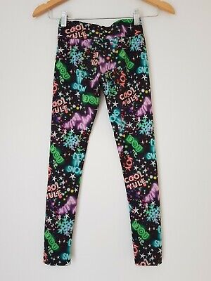 Girls TU Leggings Age 8yrs Christmas Multi <FF1279