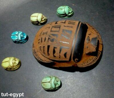 Collection of RARE ANCIENT EGYPTIAN ANTIQUE SCARAB Carved Stone 1456-1256 BC