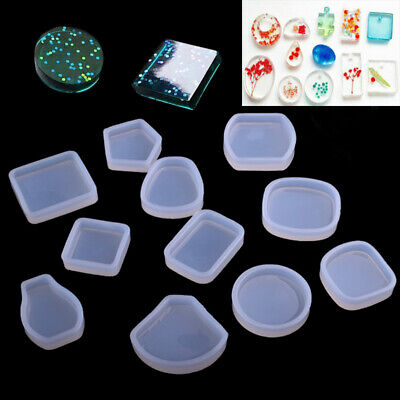 10X Silicone Dried Flower Mold Jewelry Making Resin Mould Casting Craft Tool DIY
