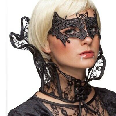 Gothic Stand up Collar Lace Collar Vampire Lady Black Collar Evil Queen Witch