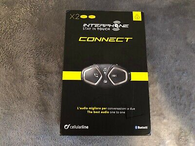 Interphone Bluetooth Headset Connect Helmet Intercom (Twin Pack)