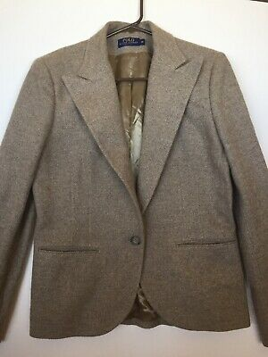 Polo Ralph Lauren Wool, Silk Jacket Womens Size 12 Large, Made In Italy