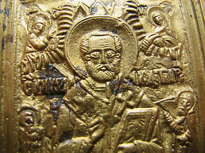 Saint Nicholas Nicolas Russian Church Orthodox Bronze  Icon #1463
