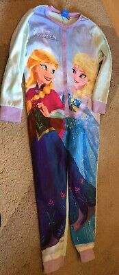 Girls Frozen All In One Pyjamas Age 6-7 Yrs