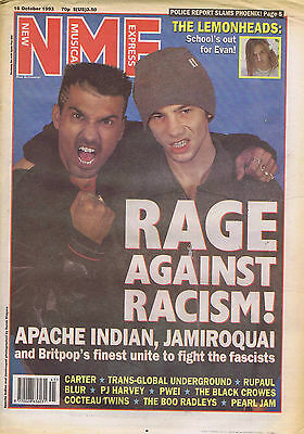 APACHE INDIAN / JAMIROQUAI / LEMONHEADS / PJ HARVEY	NME	 	 	16	Oct	1993