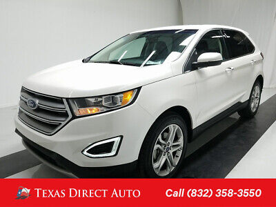 2018 Ford Edge Titanium Texas Direct Auto 2018 Titanium Used Turbo 2L I4 16V Automatic FWD SUV Premium