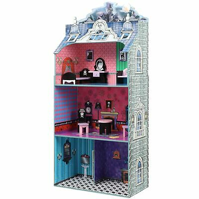 Teamson Kids- Monster Mansion Doll House with Furniture - Multi Color N/A