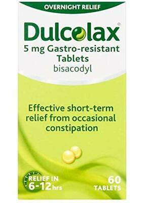 Dulcolax Constipation Relief 5mg Bisacodyl Gastro Resistant. 3 x 60 Tablets!