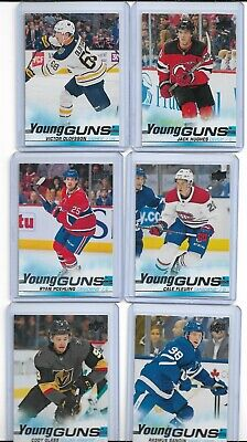 2019-20 Upper Deck Young Guns Hughes,Olofsson,Sandin,Fox,Glass,Poehling,