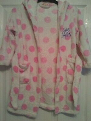 girls bluezoo hooded dressing gown barely worn - 4-5 yrs