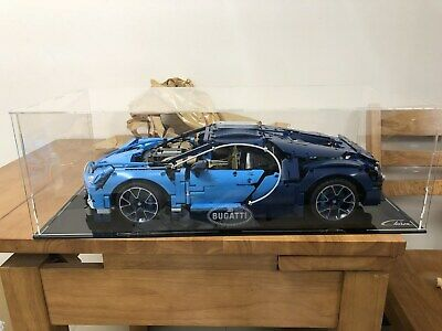 Acrylic Display Case with engraving for LEGO Technic Bugatti Chiron 42083