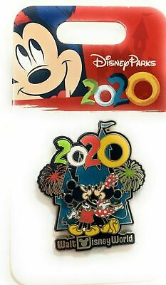 Disney Parks 2020 Mickey Minnie Castle Watching Fireworks Pin p NEW