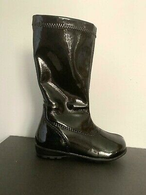 Kenneth Cole Boots Girls Black Patent Boots NIB Little Girls Size 6