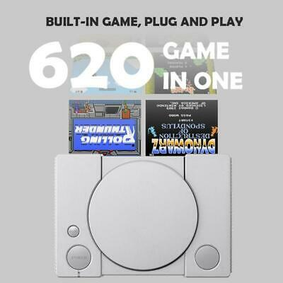 8-bit Classic PS1 Mini Home Game Console Retro Two-player Game Console 620 Games