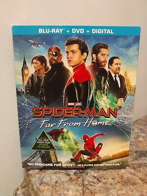 Spider-Man: Far From Home (Blu-RAY + DVD + Digital + Slip Cover) FACTORY SEALED