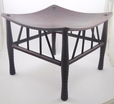 Antique Arts & Crafts Egyptian Revival Thebes Stool-Liberty & Co London