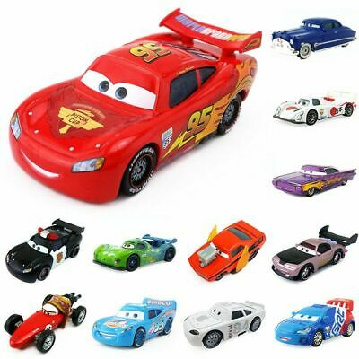 Pixar Cars Metal No.95 McQueen Mater King 1:55 Model Sally Toy Car Gift For Kids