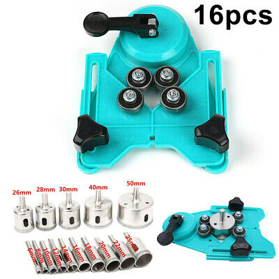 16 Pcs Drill Guide Glass Vacuum Base Sucker Tile Glass Hole Saw Openings Locator