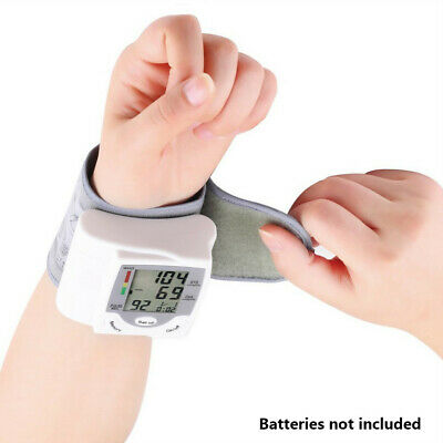 Automatic Digital Wrist Blood Pressure Monitor Heart Rate Pulse Meter US Local