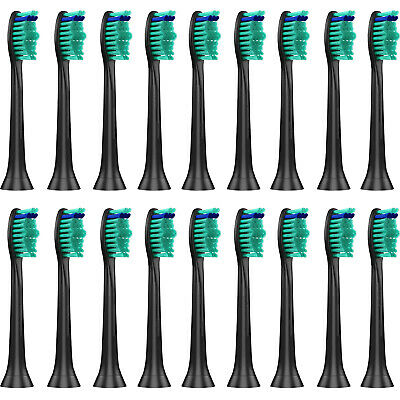 20 Replacement Toothbrush Heads for Philips Sonicare Proresults HX6014/13 Black