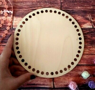 Basket base, round wooden bottom for weaving and crochet. Craft supplies DIY