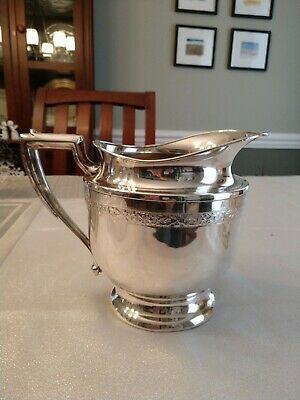 """Vintage silver plated Water Pitcher 8"""" tall, 6"""" dia."""