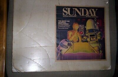 Chicago Tribune Sunday Magazine 1986 STAR WARS C3PO,R2D2 ROBBY THE ROBOT COVER