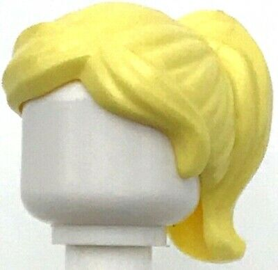 NEW Lego Female Minifig Bright RED HAIR Minifigure Short Wig w//Girl Ponytail