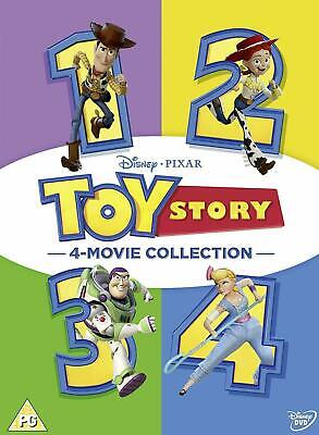 Toy Story 1-4 Complete DVD BoxSet 4 Movie Collection new/sealed region 2 uk