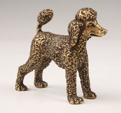 Retro Chinese Bronze Statue  Animal Dogs Solid Mascot Collect Gift