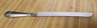 Vintage Sheffield Sterling Silver Handle Wedding Cake/ Bread Knife - Nice Design