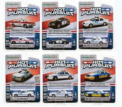 Greenlight Hot Pursuit Series 12, Set Of 6 Police Cars 1/64 By Greenlight 42690