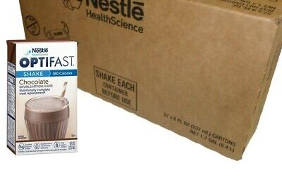Optifast 800 Ready To Drink Shakes | 1 Case Chocolate | 27 Drinks