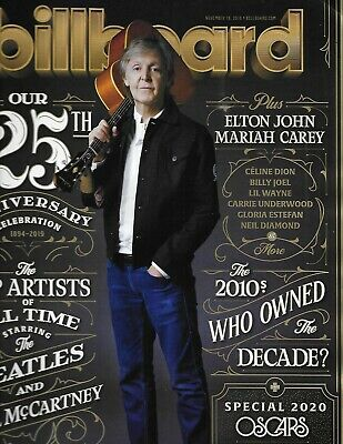Billboard Magazine Paul McCartney 125 Anniversary Issue Top Artists of All Time