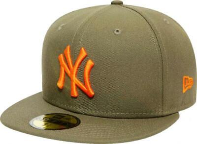 New era New York Yankees Olive Orange League Essential Cap 59fifty Fitted