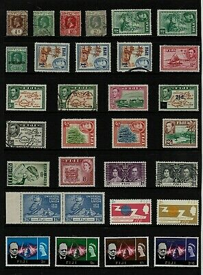 FIJI Stamp  COLLECTION  George V to QEII MINT USED Ref:QP588a