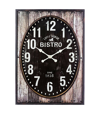 5 In 1 Grand 100cm Horloge Murale Décor Maison Moderne