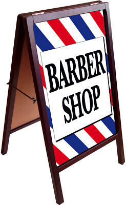 BARBER SHOP A-Frame Sign Sidewalk Pavement Sign Double Sided 172875