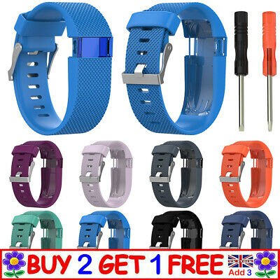 Replacement Pin Buckle Silicone Watch Band Belt Wrist Strap For Fitbit Charge HR