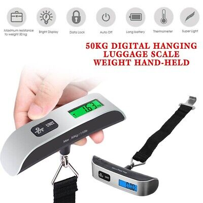 Electronic Luggage Hanging Travel LCD Digital Scale 50kg Weight Tool Portable