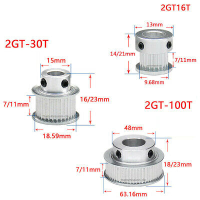 GT2 16T-100T Timing Belt Pulley Pitch 2mm Synchronous Wheel for 6mm Width Belt
