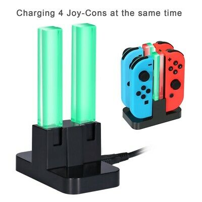LED Stand Charger For Nintendo Switch Joy-Con Charge Dock Controller Charging